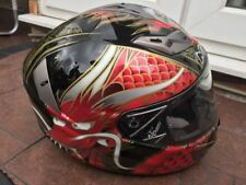 Adult Nuvo SP2 Dragon Motorcycle Full Face Helmet Red/Black Clearance Sale XL