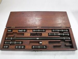 """LUFKIN INSIDE BORE MICROMETER SET. 1"""" TO 15"""" USED CHEAP M2"""