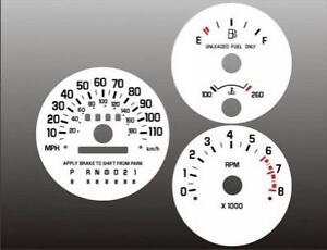 1995-1999 Chevy Lumina Monte Carlo TACH Dash Cluster White Face Gauges