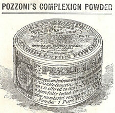 1880's POZZONI'S COMPLEXION POWDER TRADE CARD * SOLD EVERYWHERE, FREE SHIP TC777