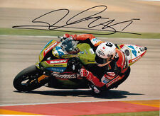 David Salom Hand Signed Kawasaki 7x5 Photo WSBK.