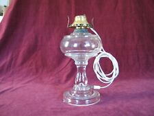 Oil Lamp Antique Glass converted to Electric in Very Good Condition