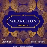 Medallion 1/2 Violin String Set - Synthetic Core - Medium - Removable Ball End E