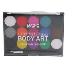 15 Color Face Body Paint Washable Oil Painting Halloween Fancy Party Art Kit