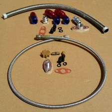 "TURBO 36""- 4AN OIL FEED LINE KIT + 17"" 10AN OIL DRAIN LINE KIT UNIVERSAL"