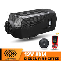 12V 8KW Metal Diesel Air Heater 10L Fuel Tank For RV Trucks Boat Car  O i