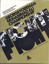 Muhammad Ali George Foreman Boxing Program 1974