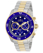 Invicta Pro Diver Men's 45mm Blue Dial Gold Two-Tone Chronograph Watch 30749