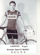 CYCLISME repro PHOTO cycliste LAURENT ROGER équipe MAVIC LOOK V.C.L.V.V
