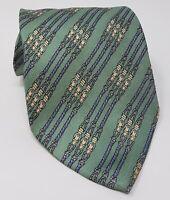 Cravatta hermes paris 100% pura seta tie made in italy original verde