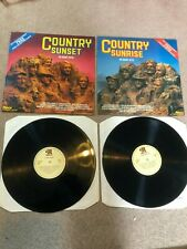 Country Sunrise & Country Sunset - 40 Giant Hits - 2x Vinyl Record LP Albums Set
