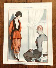 1920s La Vie Parisienne French Magazine Page-- Condoleances