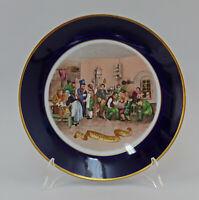 """99840614 Porzellan Lichte kobalt Prunk-Wandteller gold """"Polizeistunde 1842"""""""