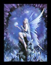 3d CUADRO CON ELFO - astrónomo - Anne Stokes Fantasy Lienzo Póster Impresión
