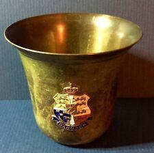 Antique ARGENTOR Copper Cigarette Cup DANMARK ENAMEL BADGE Makers Mark