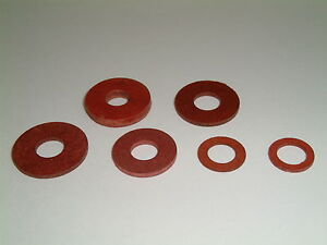M7 Fibre Washers 7mm to 8mm I/D- Choose from 4 different sizes.