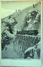 Tunnel W.P. & Y. R. Alaska USA 9x13 not posted anni 20/30, train treno ferrovia