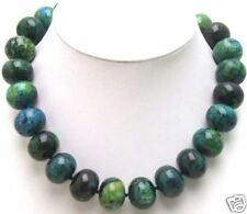 18mm Natural Round Green Malachite Stone Necklace for Woman Chokers 17'' nec5322