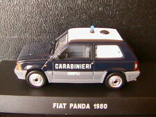 FIAT PANDA 45 1980 CARABINIERI CINOFILI DEAGOSTINI 1/43 POLIZIA ITALIA ITALY