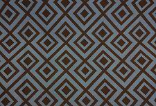 "Kravet Dorage Denim Blue Brown Geometric Fr Multi Use Fabric By The Yard 54""W"