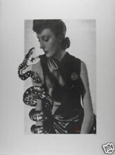 VALIE EXPORT: Schlangenfrau, 2005/1989 Siebdruck