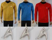 Star Trek Into Darkness Starfleet Captain Kirk Spock Costume Suit Shirt Uniform