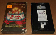 BLOODY BIRTHDAY VHS Uncut Box Horror SLASHER  Susan Strasberg 1983 PRISM -#8