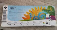 Eintrittskarte/Ticket #22 Japan vs Griechenland/ greece, WM2014, ungeknickt!