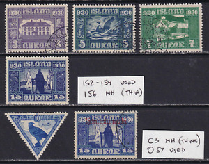 Iceland 1930 Stamp Lot  MH/Used  CV $103.00  See*