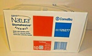 "10 ConvaTec 125277 Natura Stomahesive Wafers 1 3/4""- 2 1/4"" Expires 2024"