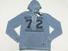 $69 NWT Mens Buffalo David Bitton NOVID Burnout Hoodie T-Shirt Tee Size XL N271