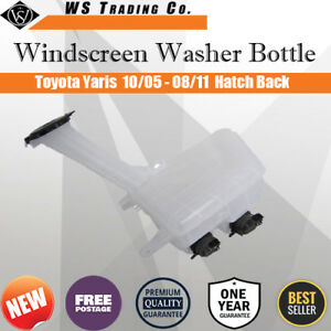 1 Back Washer Bottle With Two Motors For Toyota Yaris Hatch 10/05-7/11