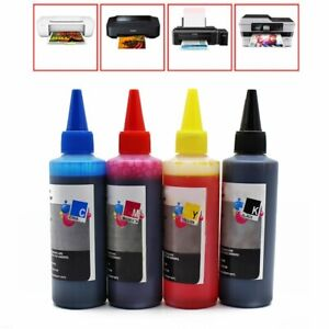 4x 100ml Color Ink Cartridge Refill Replacement Kit for HP Canon Printer  @I