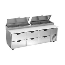Beverage Air Dpd93hc 6 93 Pizza Prep Table Refrigerated Counter