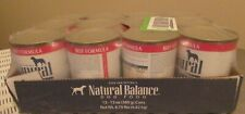 12 Natural Balance Ultra Premium Beef Formula Wet Dog Food / 13oz each