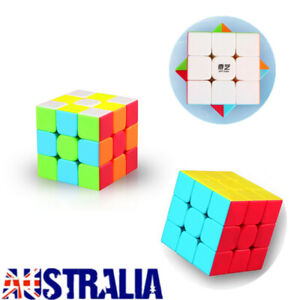 3x3x3 Magic Cube Rubiks Puzzle Rubics Rubix Toy Smooth Fast Speed For Kids Gift