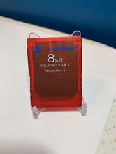 Official Red PS2 Playstation Memory Card