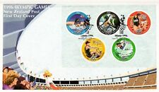 L3675sbs New Zealand First Day Cover 1996 Olympics Mini Sheet