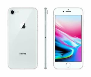 Apple iPhone 8 64GB Fully Unlocked (GSM+CDMA) AT&T T-Mobile Verizon Silver
