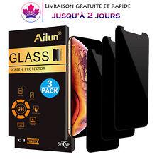 [Lot de 3] films protecteurs d'écran en verre trempé anti-espion pour iPhone X