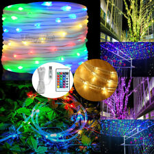 10M 100 LED Waterproof Strip Rope USB Light Tube String Garden Party Decoration