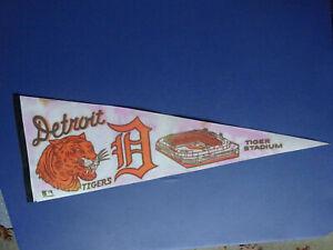 Detroit Tigers, Tiger Stadium 29 Inch Pennant, Pink & White