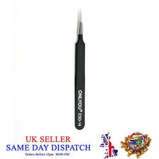 ONLYOU ESD-14 Antistatic Tweezers Stainless Steel Straight Fine Head Pointed