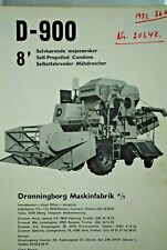 Original 1970 Dronningborg Spare Parts List For Model D-900 Combine Harvester