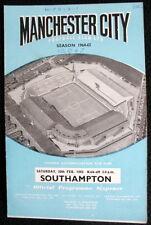 Manchester City v Southampton      20-2-1965
