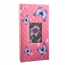 Arpan 6'x4' Designer Photo Album with 300 Pockets Pink-Butterfly   AL-9814