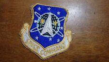 U S AIRFORCE  SPACE COMMAND APOLLO GEMINI SPACE SHUTTLE   PATCH  BX L 6