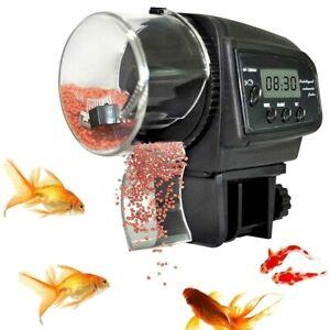 Smart Automatic Feeder Aquarium Fish Tank Pond Wall Mount LCD Timing Auto  Food