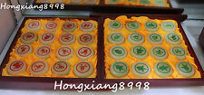 """19"""" Chinese Natural White Jade Amusement Game Chess Pieces Xiangqi Set Statue"""