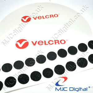 VELCRO® Brand 22mm Coins Self Adhesive Sticky Pads Fasteners Stick On BLACK